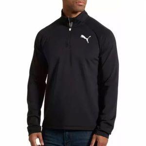 PUMA Men Black Pullover Essential Active 1/4 Zip L